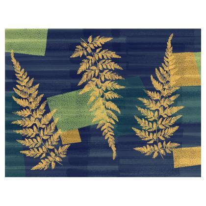Clutch Bag with abstract fern design by Lucinda Kidney