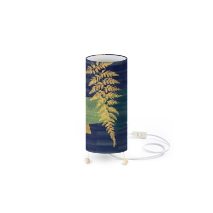 Standing Lamp with abstract fern design by Lucinda Kidney