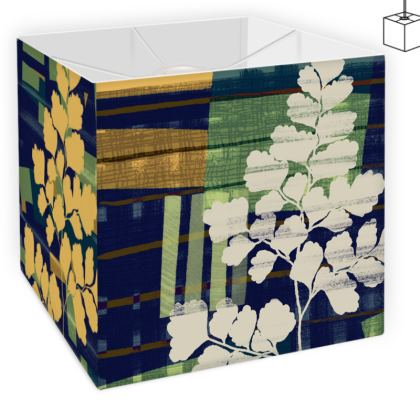 Square Lamp Shade with abstract fern design by Lucinda Kidney