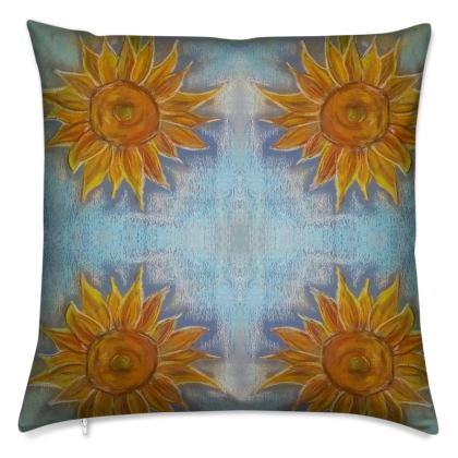 Sunflowers Pastel Cushions