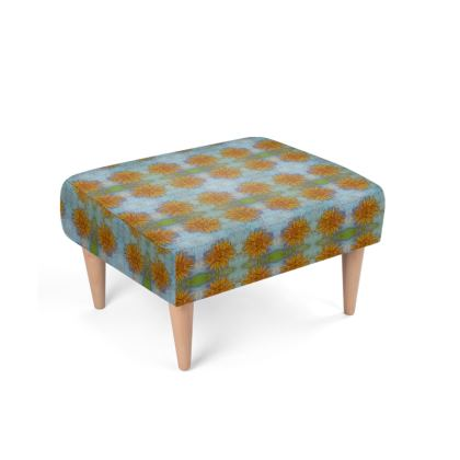 Sunflowers pastel Footstool