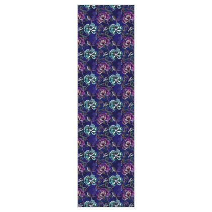 P E O N Y - China Blue - 5m Printed Fabric