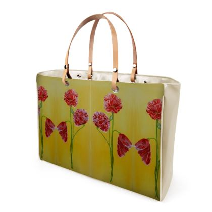 Poppies Luxury Vinyl Handbags Clothing and Accessories