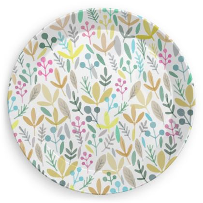 Floral Plates (Pack of 4)