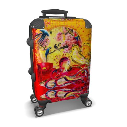 BIG CHINA RED suitcase, Koffer, cabin size luggage