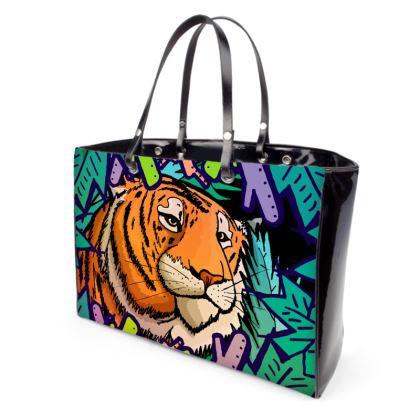 Handbags - Tiger in the undergrowth
