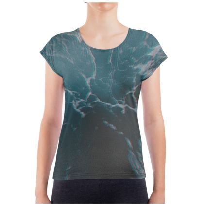 "Ladies T Shirt ""Marbled Ice"""