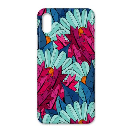 iPhone X Case - Flower and leaves