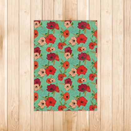 Harvest Poppies Rug