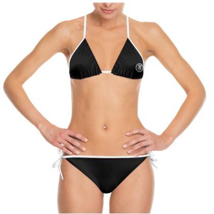 Alesi Apparel Signature Bikini- Black/White/White