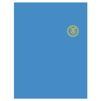 Alesi Apparel Stylish Robes- Light Blue/Gold/White