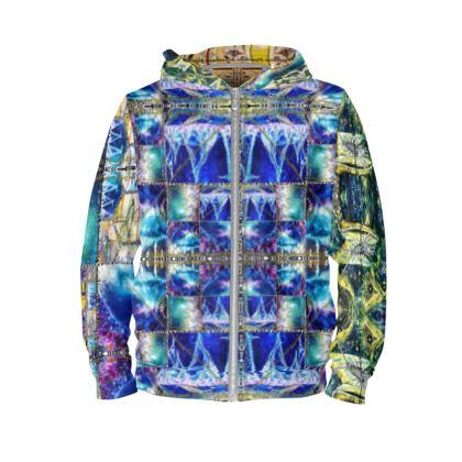 MIAMI MEDUSA BLUE designer HOODIE by ninibing34 size M, unisex