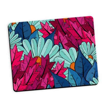 Mouse Mat - Flowers and leaves
