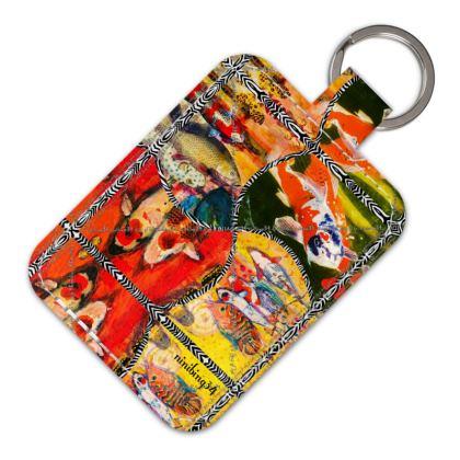 ninibing34 Schlüsselanhänger aus Leder KOI