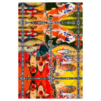 Gepäckanhänger aus Leder ninibing34 KOI
