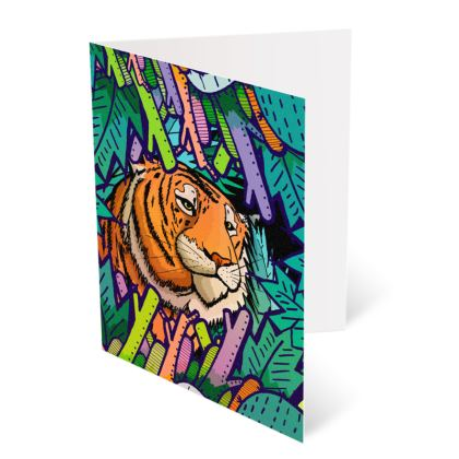 Occasions Cards - Tiger in the undergrowth