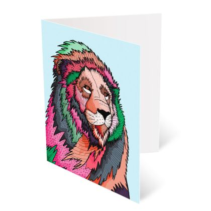 A6 Greetings card Packs - The lovely lion