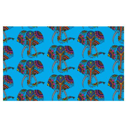 Zip Top Handbag - Elephant Dream blue