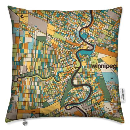 Winnipeg Map Cushion