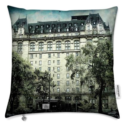 Haunting Fort Garry Hotel Cushion