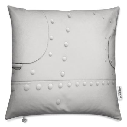 White Metal Plane Panel Cushion