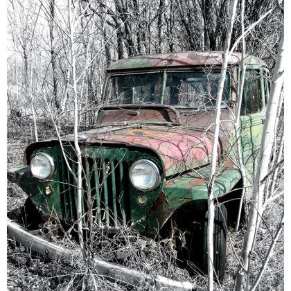 Vintage Jeep Cushion