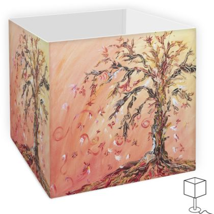 Flowing Tree Square Lamp Shade