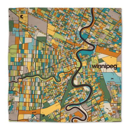 Winnipeg Map Napkins