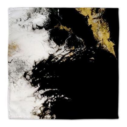 Royal Black Abstract Art Napkins