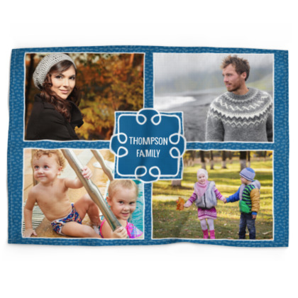 Our Family: Blue Square Template