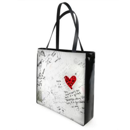 Bathroom Graffiti Shopper Bags
