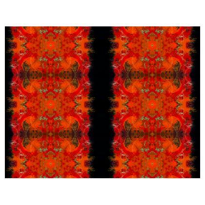 Abstract Orange Art Handbag