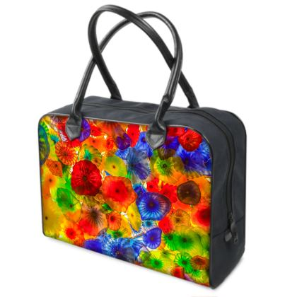 Chihuly Style Coloured Glass Holdalls