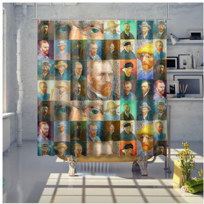 Portraits of Vincent Shower Curtain