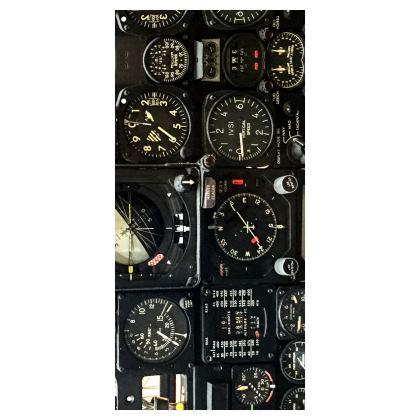 Aviation Instrument Panel Glasses Case Pouch