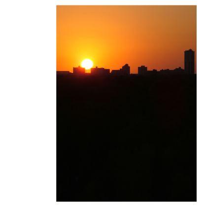 Sunrise Glasses Case Pouch