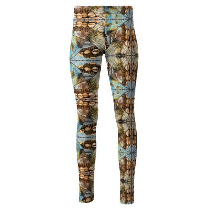192,- Taillenhohe Leggings romanit Jersey size M ethno autumn