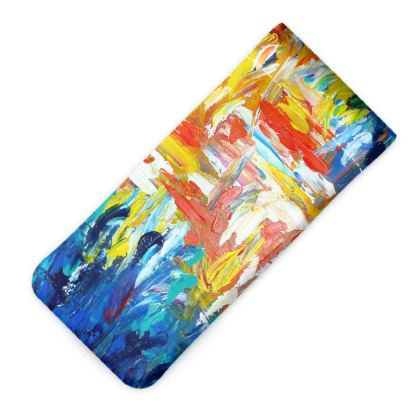 Abstract Art Glasses Case Pouch