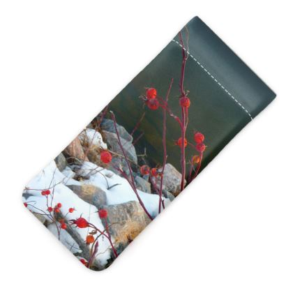 First Snowfall Glasses Case Pouch