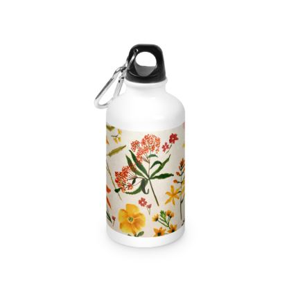 Botanical Flowers Water Bottle by Lucinda Kidney