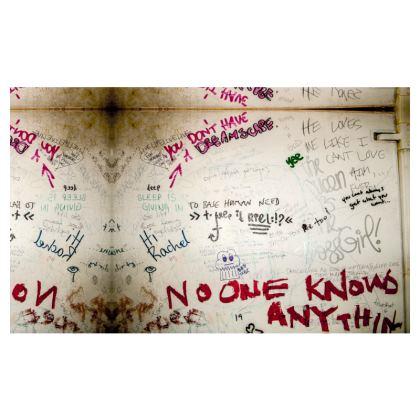 Bathroom Graffiti Zip Top Handbag