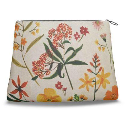 Botanical Flowers Clutch Bag by Lucinda Kidney