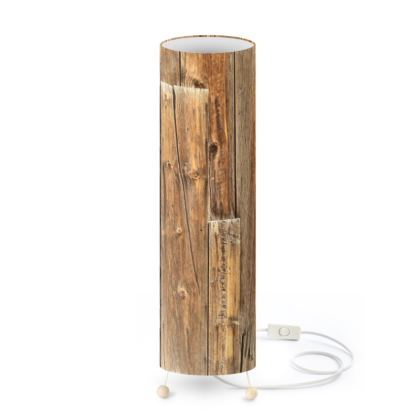Old Wood Wall Standing Lamp