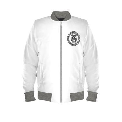 Alesi Custom Bomber Jacket- White/Black/Grey
