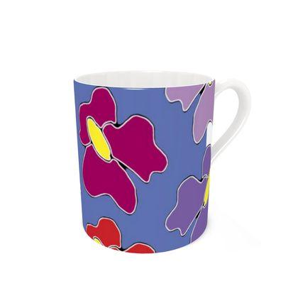 Springtime Blue Bone China Mug