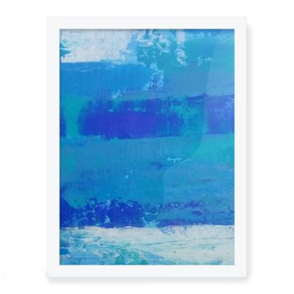 Azul moments Framed Art Prints
