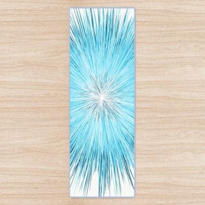 Explosive Ice Blue Yoga Mat