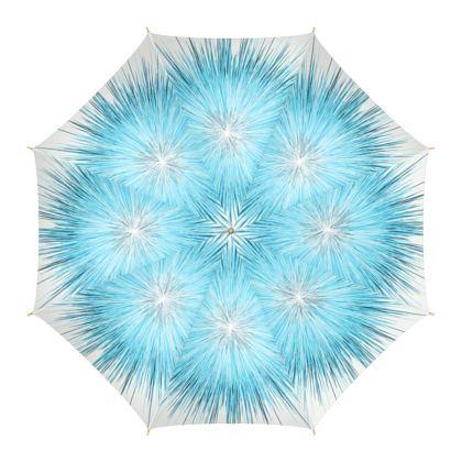 Explosive Ice Blue Umbrella