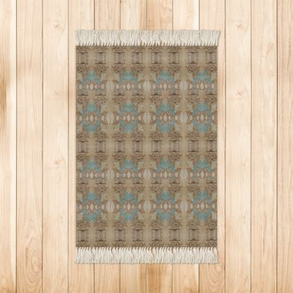 'Nefertari' Rug in Cream and Blue