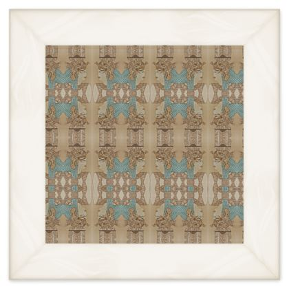 'Nefertari' Double Quilt in Cream and Blue